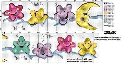 Bordi per lenzuolini a punto croce cerca con google for Disegni punto croce per lenzuolini neonati