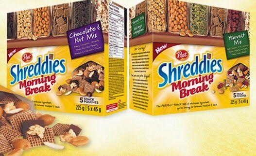 Post Foods Shreddies Morning Break Harvest Mix vs. Chocolate & Nut Mix – A…