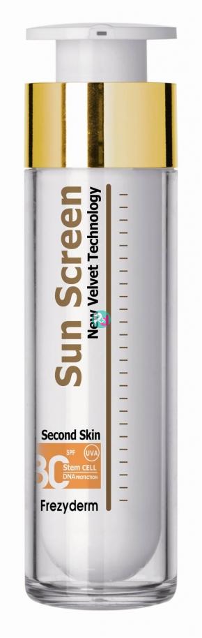 Frezyderm Sunscreen Second Skin Velvet Face Cream Spf 30 50ml Face Cream Moisturizer Cream Body Skin Care