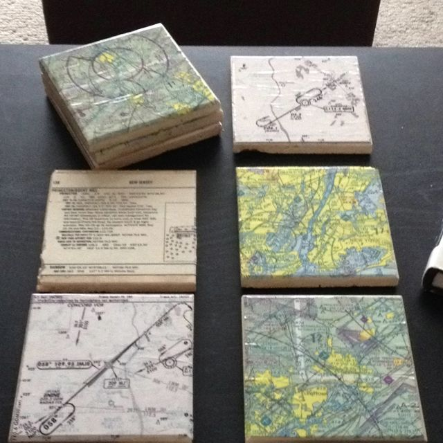 Acquired Coffee Table Needed Coasters Tiles From Home Depot