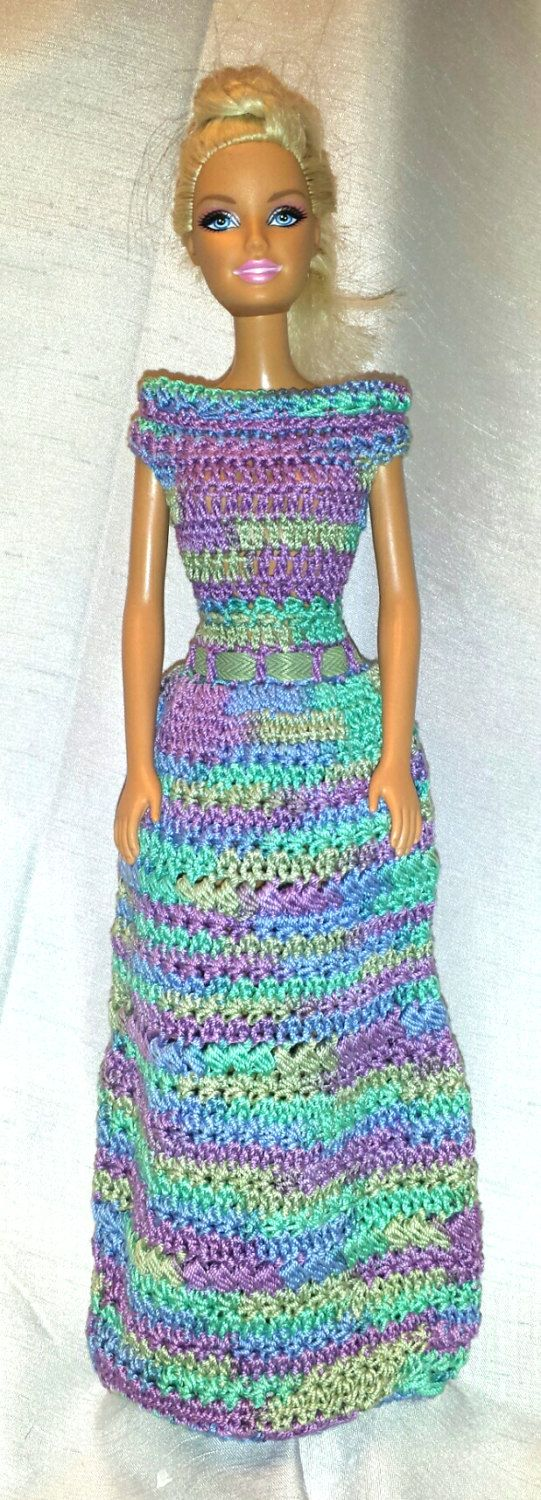 Barbie Clothes Handmade Fashion Doll Crocheted Prom Dress by ...