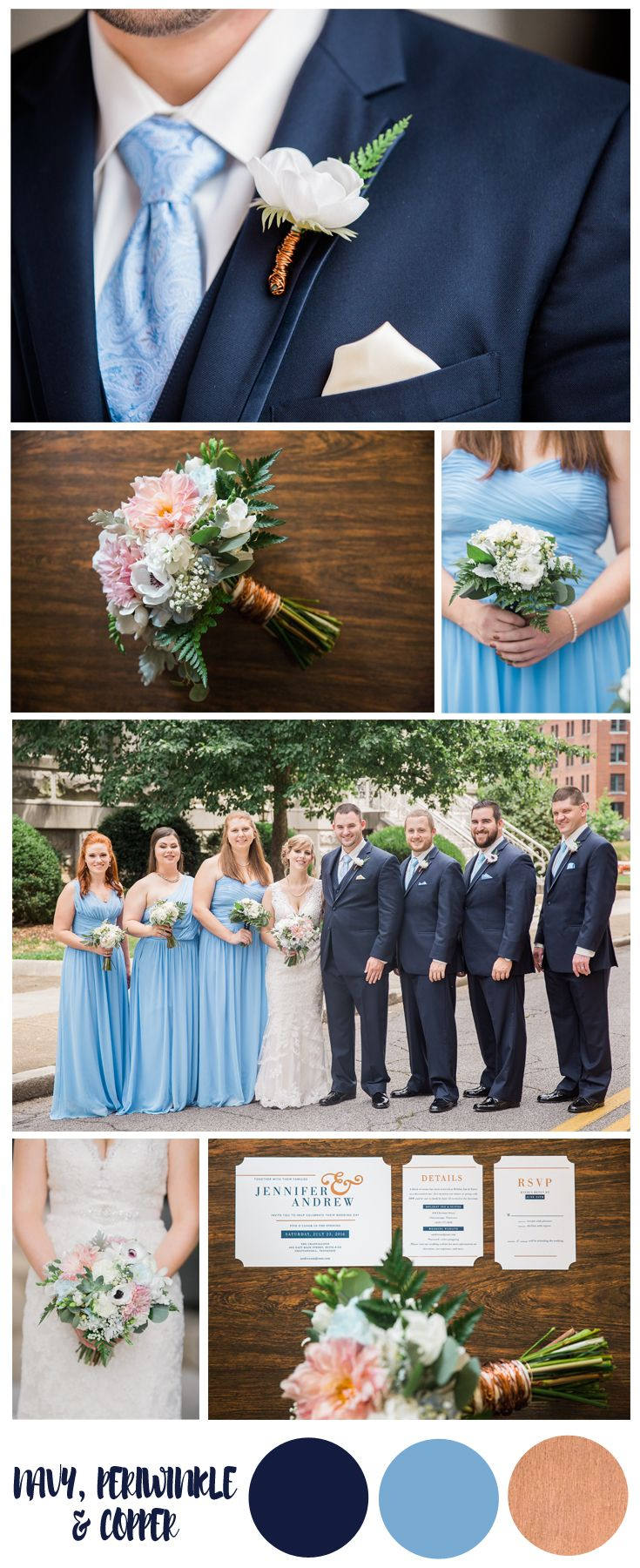 Navy Periwinkle And Copper Wedding Colors Inspiration Perfect For Winter Spring