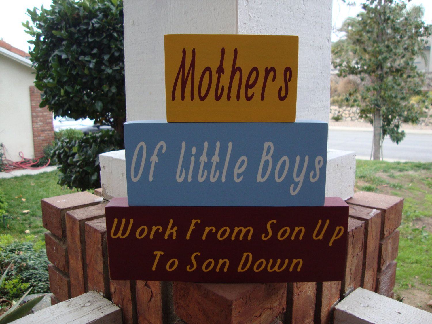 SALE SALE SALE!!! Mothers of Little Boy home decor stacker by DeannasCraftCottage on Etsy
