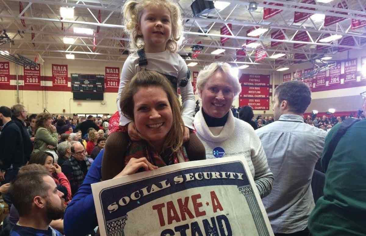 Advocates at a Hillary Clinton campaign event in Iowa on Jan. 29, 2016.
