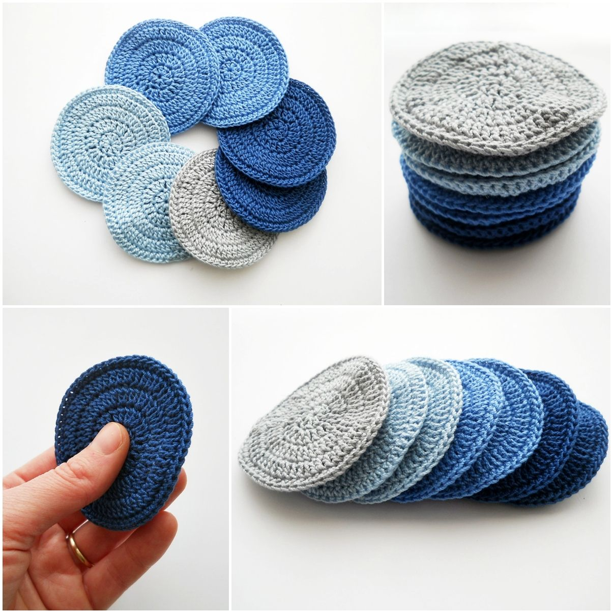 Crochet face scrubbies | Washcloths | Pinterest | Jabones, Trapillo ...