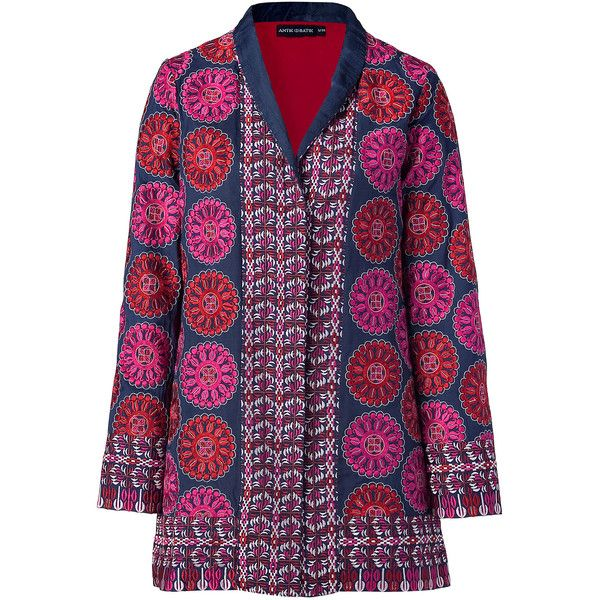 ANTIK BATIK Blue Multicolor Embroidered Jacket Found On