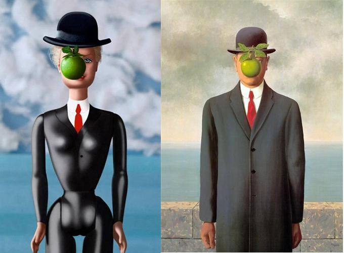 Hijo del hombre, Magritte