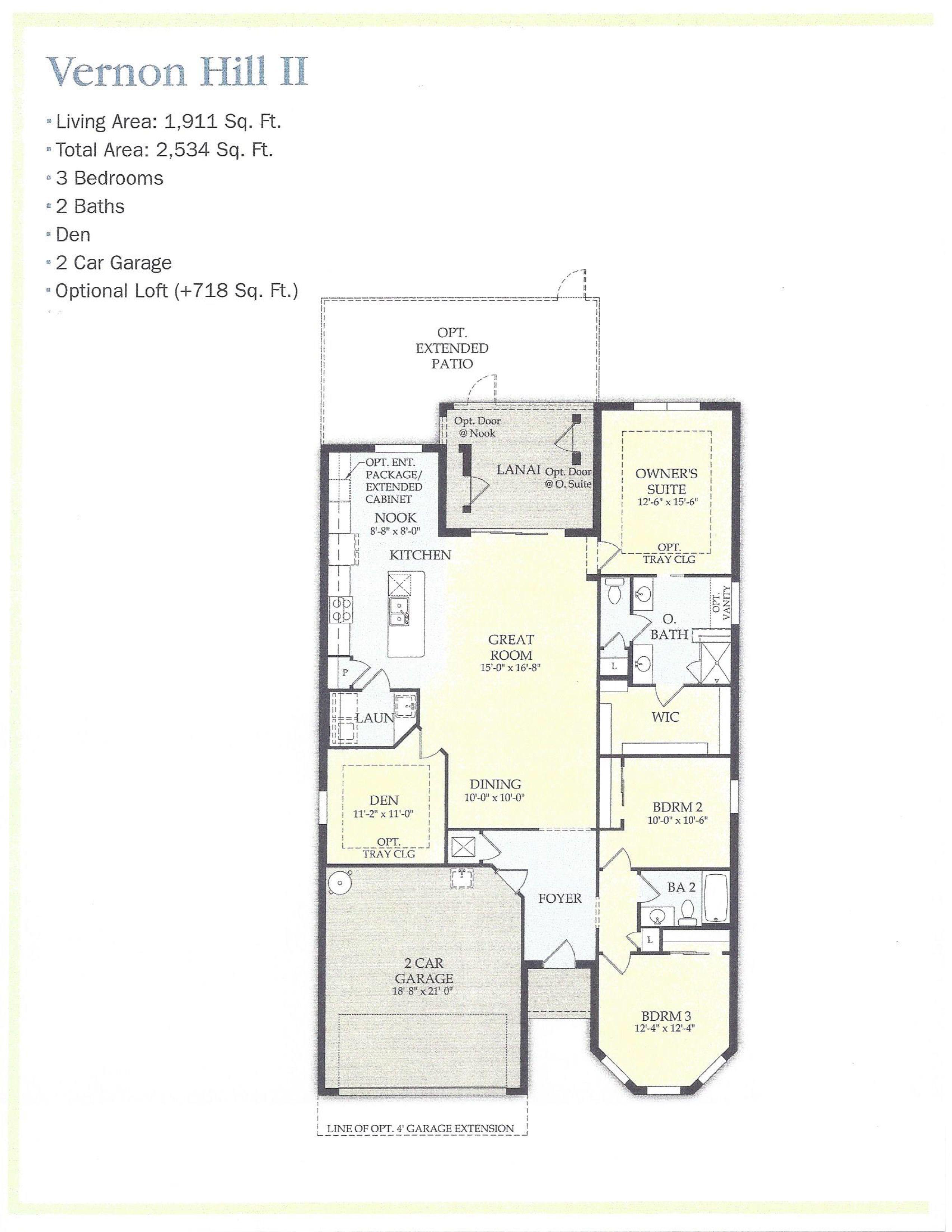 Vernon Hill Ii Floor Plan Camden Lakes Naples Fl Naples Real Estate Floor Plans Pulte Homes