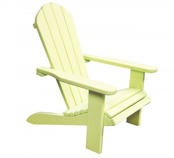 """Kids Wooden Outdoor Chair - Yellow (Yellow) (24""""H x 23""""W x 18""""D)"""