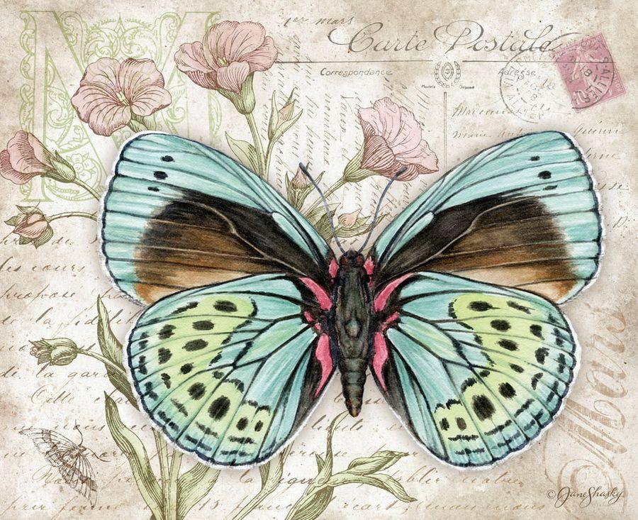 Открытки с рисунками бабочек, родителям днем