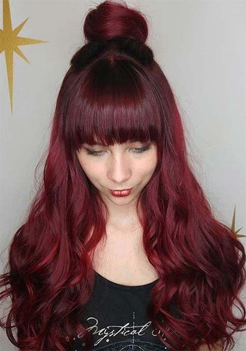 100 Badass Red Hair Colors Auburn Cherry Copper And Burgundy Hair Shades Burgundy Hair Hair Color Auburn Shades Of Red Hair
