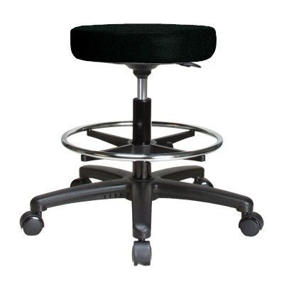 Perch Chairs and Stools Height Adjustable Swivel Stool with Foot Ring Color: