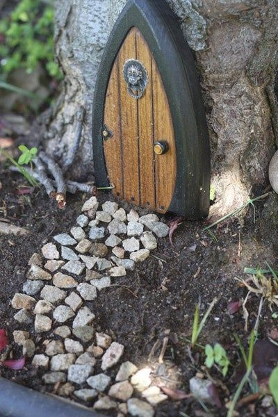 i think the fairies in my woods need doors to their lil houses, haha. I think Parker & Ella would like this