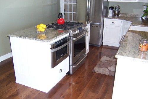 Image Result For Kitchen Island With Slide In Range Kitchen