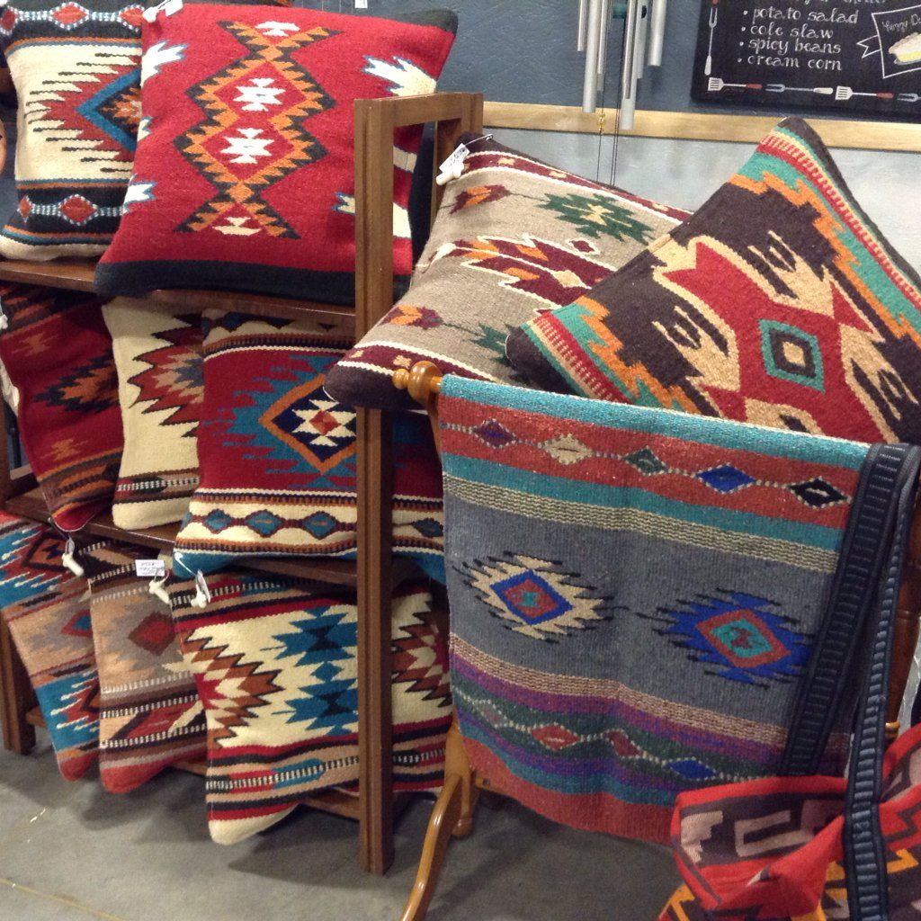 Southwest Style Pillows In A Variety Of Designs And Colors In Wool. From El  Paso