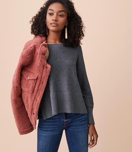 Lou   Grey Specked Hi-Rib Sweater Sweater Shop f6fb5b514