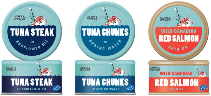 Canned Fish Seafood company, Packaging design, Fish