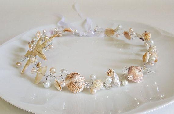 Ivoire Perle Strass Cristal Fleur Mariage Mariée Cheveux Bandeau Gold Tiara