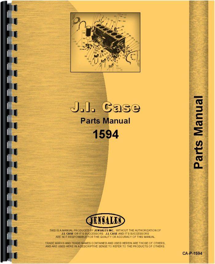 Case 1594 Tractor Parts Manual