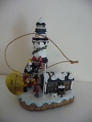 danbury mint christmas lighthouse montauk point light lanai tree