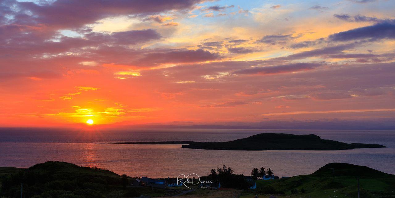 Sunrise on Skye Scotland landscape, Sunset landscape