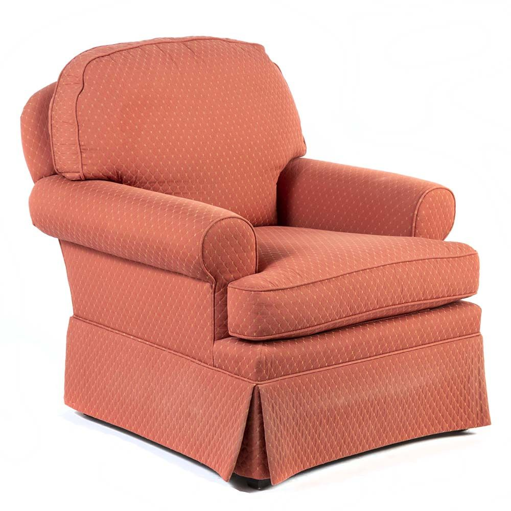 Groovy Accent Chair From Sherril Has A Salmon Colored Upholstery Short Links Chair Design For Home Short Linksinfo