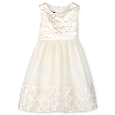 a6c3047e395 Princess Faith Basket-Weave Border Flower Girl Dress - Girls 12m-6x -  jcpenney