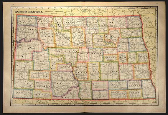 North Dakota County Map North Dakota LARGE Colorful Colored ... on print map of states, print map of ontario canada, print map of oklahoma city, print map of st. augustine, print map of philadelphia, print map of houston,
