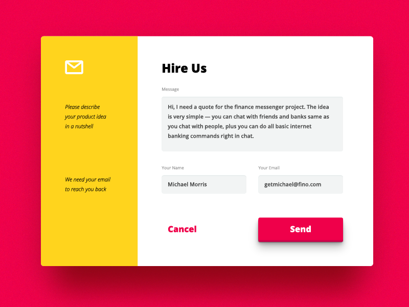 VisualRocks Website Contact Form By VisualRocks.co #Design Popular  #Dribbble #shots