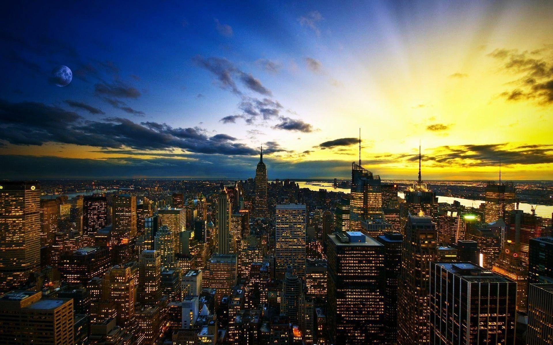 10 Latest City Skyline Desktop Wallpaper Full Hd 1920 1080 For Pc Desktop New York Wallpaper City Wallpaper Usa Wallpaper