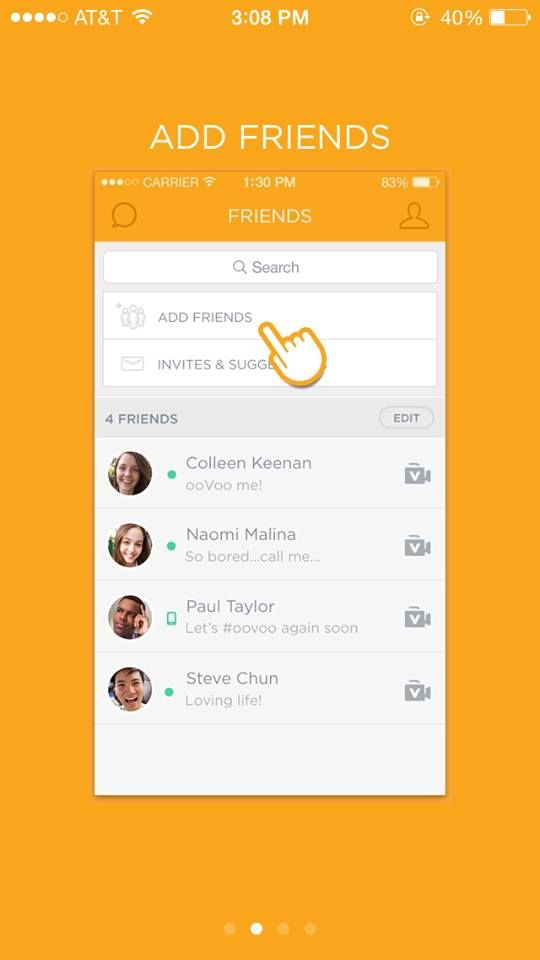 Oovoo Add Friends Page | PunchList App | Ui design, Desktop, Desktop
