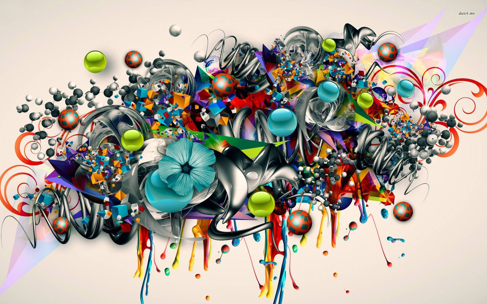 Wallpaper 3d Graffiti
