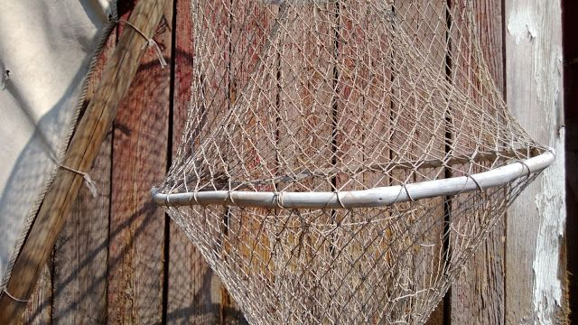 A used fishing trap