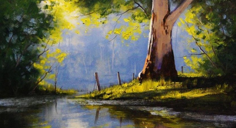 42 Easy Landscape Painting Ideas For Beginners Easy Landscape Paintings Landscape Paintings Landscape Paintings Acrylic