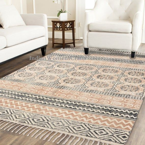 Handblock Printed Rug Indian Rug Large Rug Rug Runner Etsy In 2020 Indian Rugs Floor Rugs Rugs On Carpet