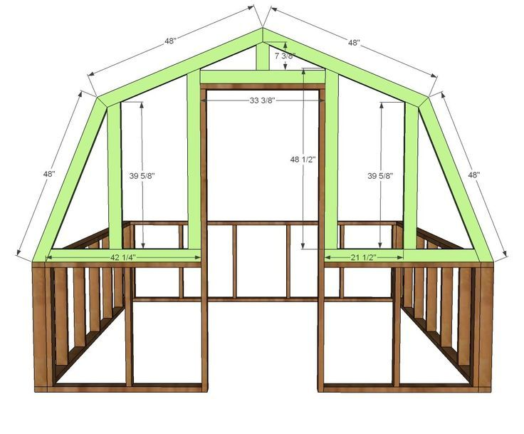 Ana White | Baue ein Scheunengewächshaus | Freies und einfaches DIY Projekt und Möb ... - Mach es Selbst #machesselbst–diy