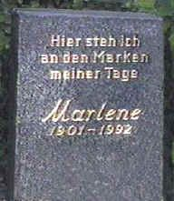 Marlene Dietrich  27th December 1901 - 6th May 1992  Friedhoff Cemetery, Berlin, Germany.
