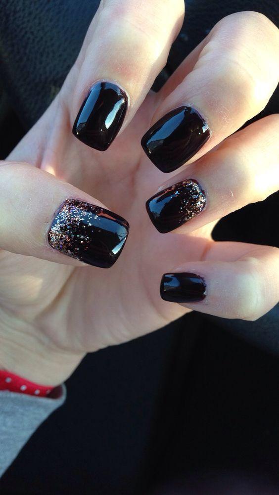 20 + DIY New Years Eve Nail Art Ideas | Winter nail art, Acrylic ...