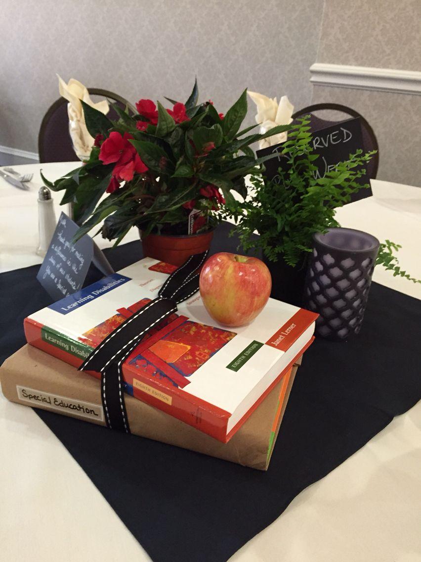 Teacher S Retirement Party Table Centerpiece Special Education