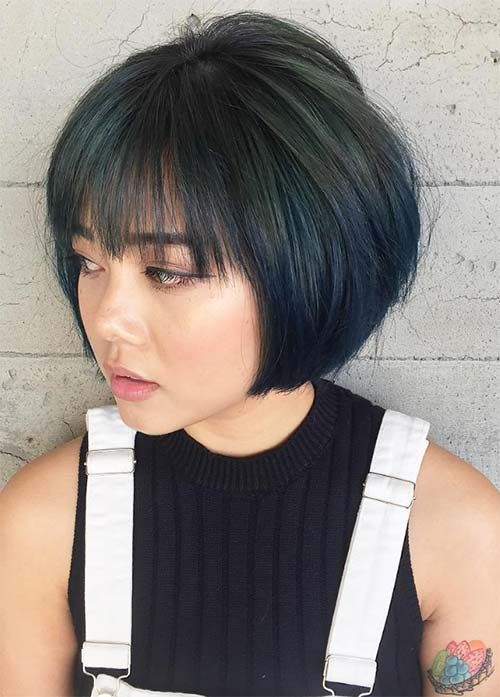 bobbed haircuts with bangs 55 bob hairstyles amp haircuts with bangs 5098 | 513aabc7bbd515610e0daebbb78e48f8