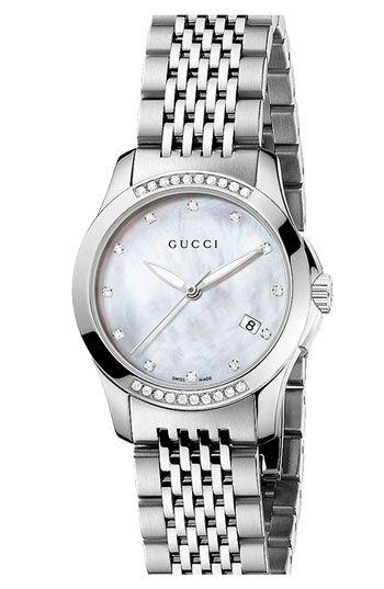 001d6fc9086 Gucci  G Timeless  Small Diamond Bracelet Watch   gorgeous!