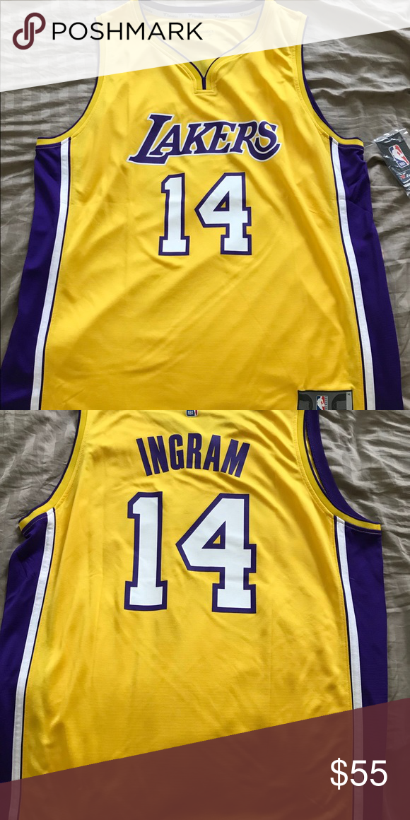 wholesale dealer 60c57 29f51 Los Angeles Lakers Brandon Ingram #14 NBA Jersey Fanatics ...