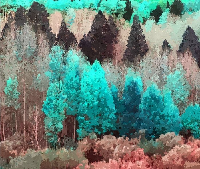 Painted Forest #society6 #buyart #decor #style Canvas Print