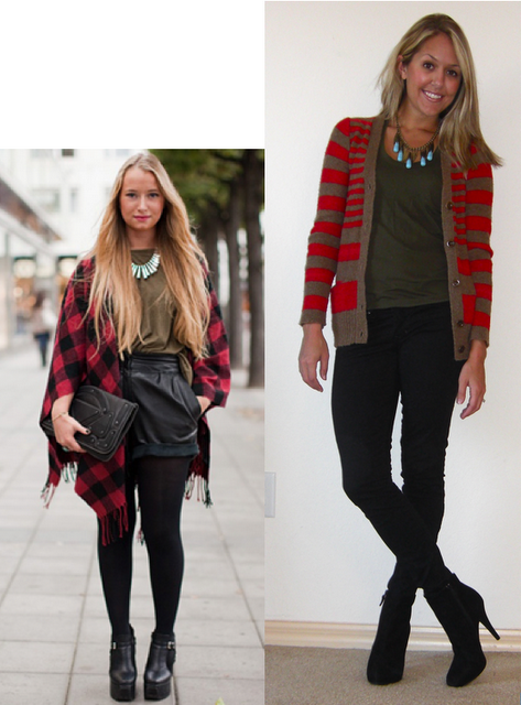turquoise, olive & red