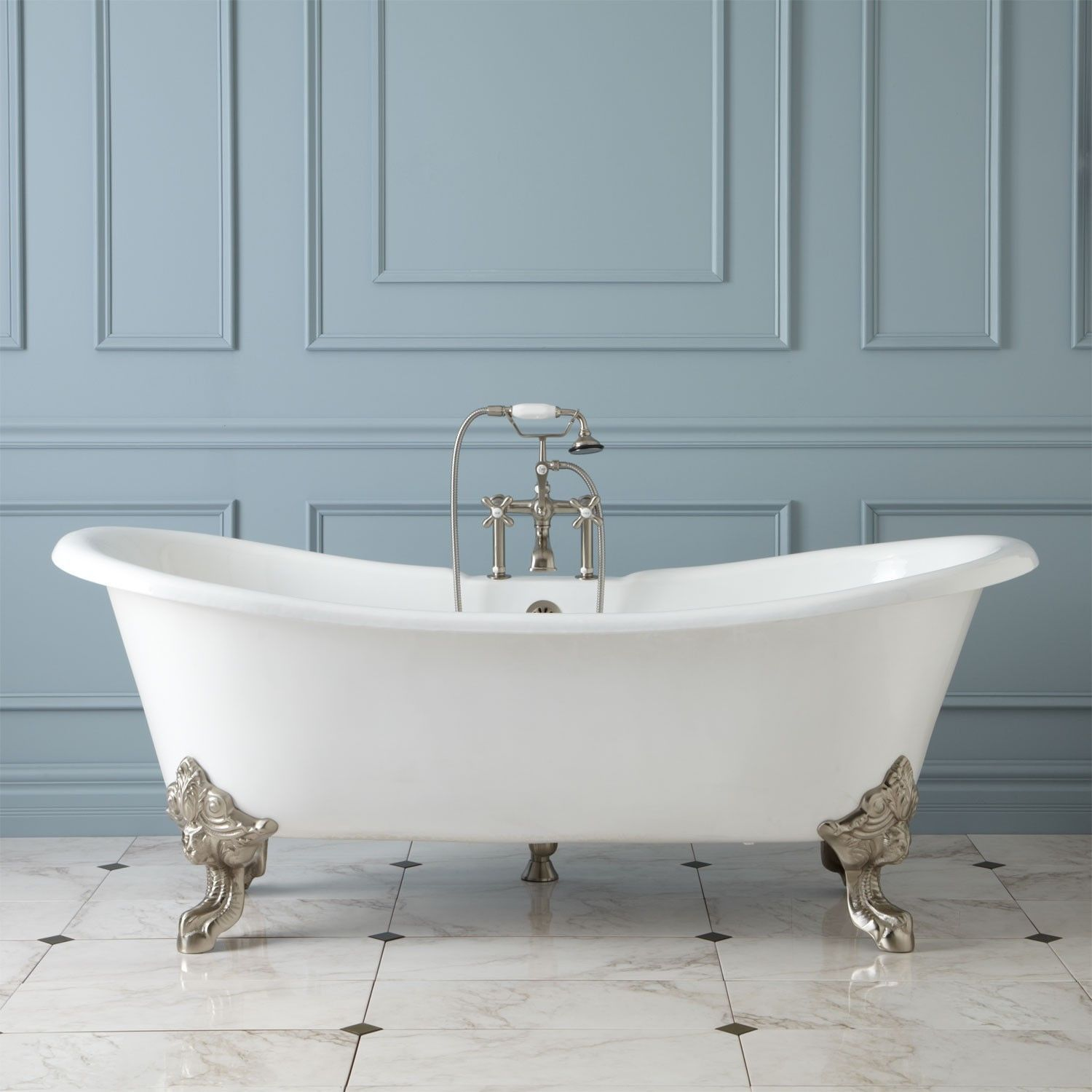 GLAISDALE\' DELUXE LARGE ROLL TOP CAST IRON FREESTANDING BATH 1800 ...