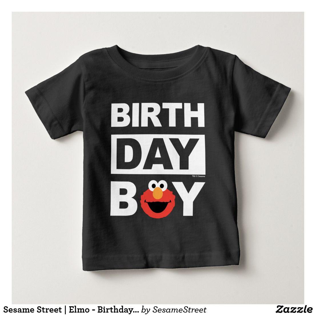 Sesame Street Elmo Birthday Boy Baby TShirt Zazzle