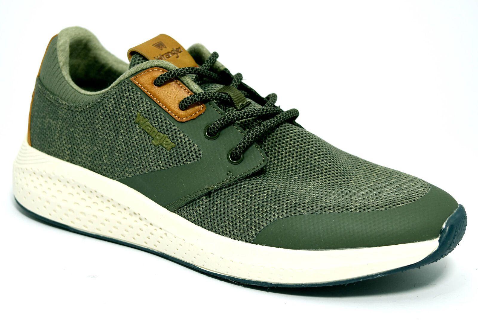 WRANGLER WM91060A 020 MILITARY Scarpe Sneaker Uomo Stringhe