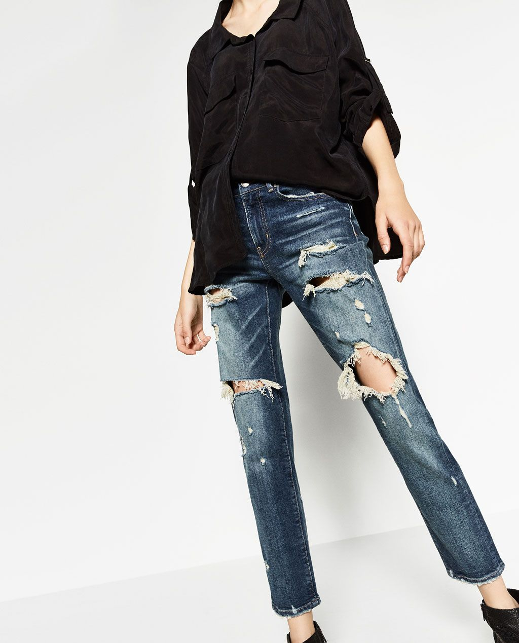 nuevo estilo y lujo compre los más vendidos como escoger ZARA - MUJER - PANTALÓN SLIM BOYFRIEND | Products I Love ...
