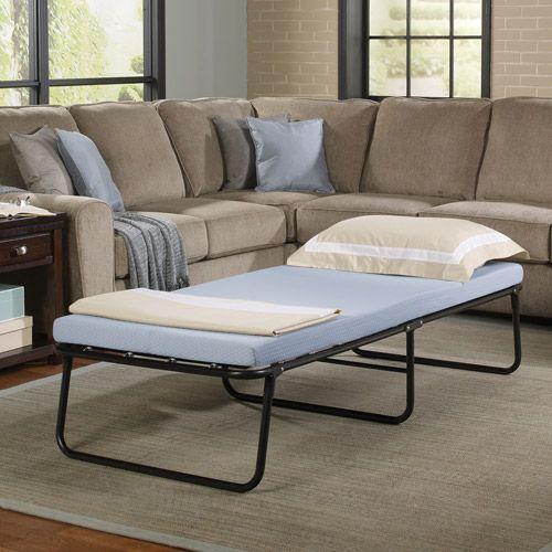 Simmons Beautysleep Folding Guest Bed With Memory Foam Mattress