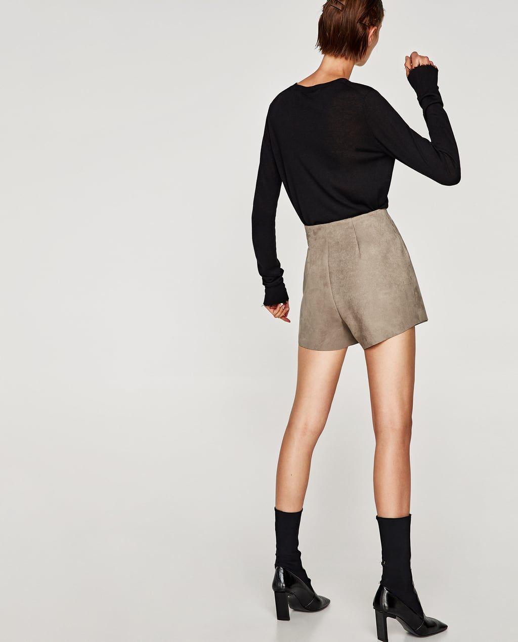 Jupe Short Daim FemmeZara France Effet Jupes Courtes PkwX8n0O